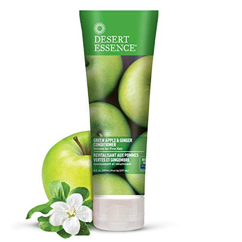 Desert Essence, Thickening Conditioner, Green Apple and Ginger, Vegan, 8 oz