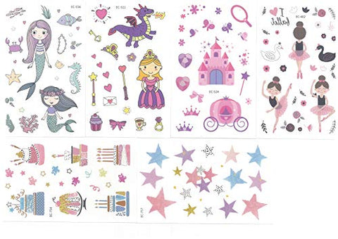Hakuna Temporary Tattoos - 12 Sheets in. Type: Unicorn, Cake, Star, Mermaid, etc.