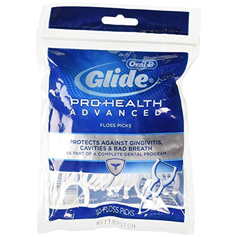 Oral-B Glide Floss Picks-30 count (Pack of 6)