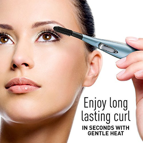 Panasonic Heated Eyelash Curler Comb With Non-Stick Silicone, Wand-Style - EH2351AC