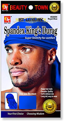 Beauty Town Luxury Spandex King's Durag Royac Blue