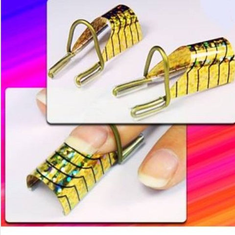 (5pcs) Reusable UV Acrylic Nail Art Tips Forms Tool
