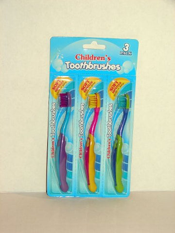 Children's Toothbrushes - 3 Pack - Soft Bristles