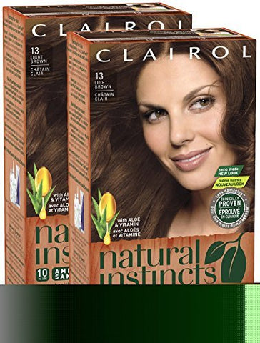 Clairol Natural Instincts, 013, Suede, Light Brown, 2 pk