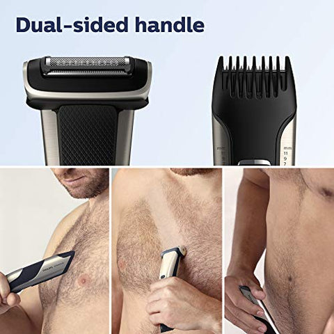 Philips Norelco BG7030/49 Bodygroom Series 7000, Showerproof Dual-sided Body Trimmer and Shaver for Men