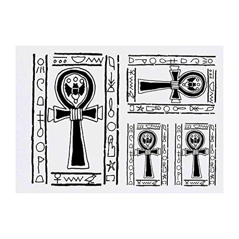 Azeeda 4 x 'Egyptian Ankh Symbol' Temporary Tattoos (TO00015991)