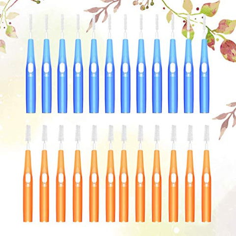 EXCEART Interdental Brush Teeth Soft Dental Picks Tooth Floss Interdental Brush Refill Dental Flosser Toothpick Cleaners Tooth Cleaning Tool Mixed color