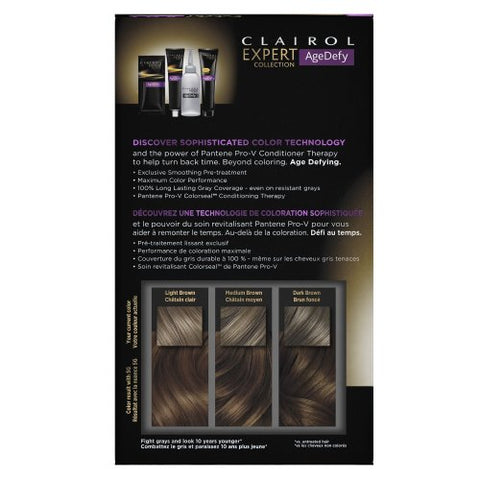 Clairol Age Defy Expert Collection 5G Medium Golden Brown 1 Kit