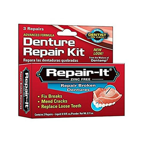 D.O.C. Repair-It Advanced Formula Denture Repair Kit 3 ea