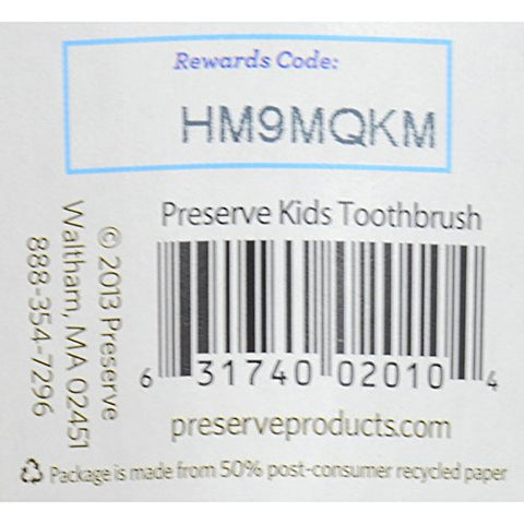 Preserve Soft Toothbrush Junior - 6 Pack - Assorted Colors