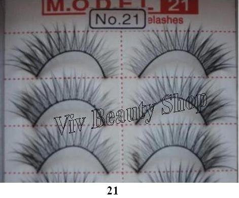 Model 21 False Eyelashes No. 21A, 10 Pairs