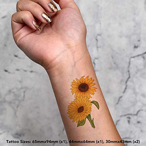 Azeeda 4 x 'Sunflowers' Temporary Tattoos (TO00013924)