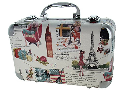 BR Carry All Trunk Train Case Make Up Set Artist Design (Creamy)
