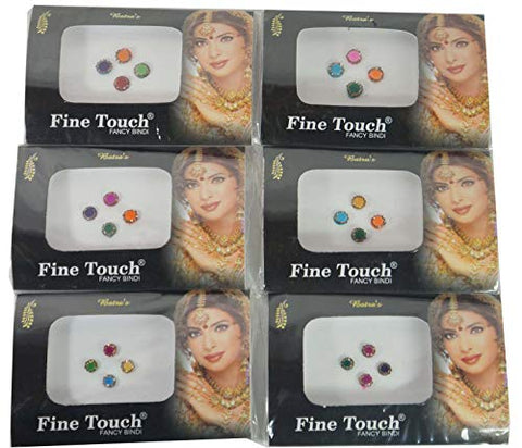 IFH Indian Tika Forehead stickers Jewelry Bindi Assorted Tikka Sticker Lot of 24 Packs