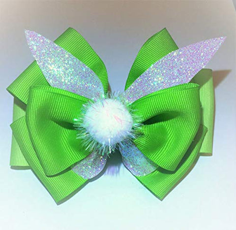 Tinker Bell Hair Bow (alligator clip)