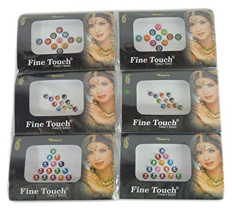 IFH Indian Traditional Bindi Tika Temporary Tattoo Forehead Sticker Jewelry Lot of 24 Packs