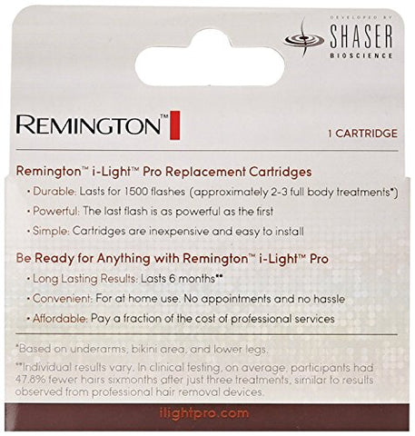 Remington Sp6000 Sb Replacement Cartridge For I Light Pro Hair Removal System (Models Ipl6000, Ipl6000