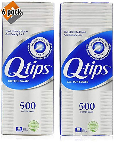 Q-tips Cotton Swabs 500 ea (Pack of 2) (3 Pack)