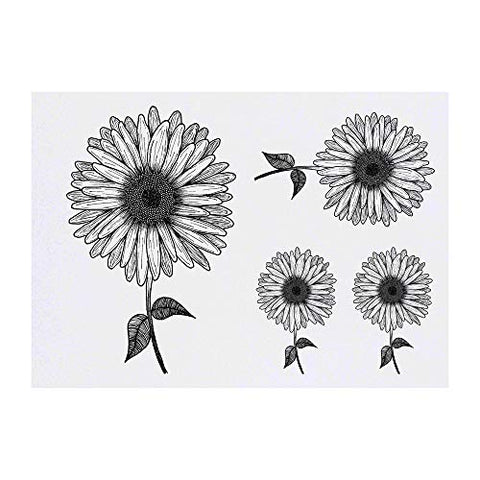 Azeeda 4 x 'Sunflower' Temporary Tattoos (TO00014811)