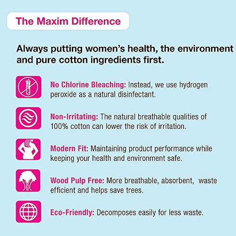Maxim Organic Cotton Cleansing Pads, 300 Grams, 96ct, No Chlorine/Dioxin/Chemical, ICEA Approved, Biodegradable Hypoallergenic Oversized Makeup Remover, Diaper Insert and Wash Cloth, 3 Packs of 32