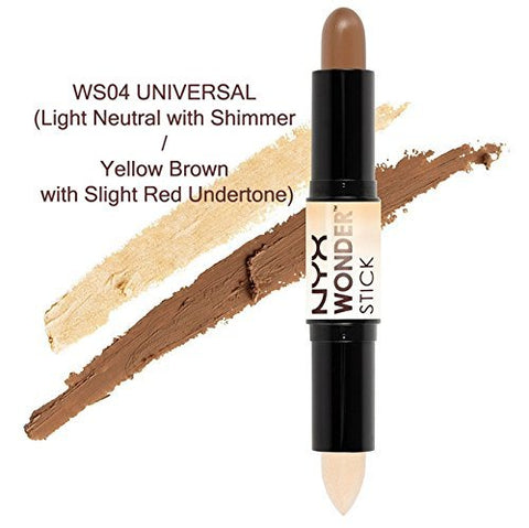 Authentic NYX WONDER STICK (Highlight and Contour Stick) each end x 0.14 oz._WS04 UNIVERSALBCS_WT