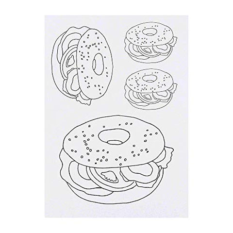 Azeeda 4 x 'Bagel Sandwich' Temporary Tattoos (TO00006811)