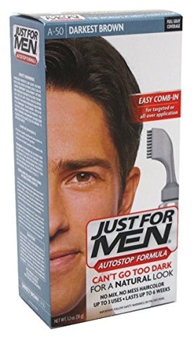 Just For Men Autostop Color #A-50 Darkest Brown (2 Pack)