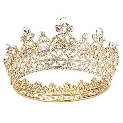 Makone Gold Crowns for Women Crowns and Tiaras Hair Accessories for Wedding Prom Bridal Party Halloween Costume Christmas Gifts