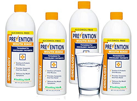 Prevention Oncology Mouth Rinse | Alcohol Free - Specially Formulated for Patients Undergoing Oncology Treatment, Value 4-Pack