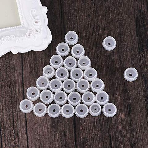 Healifty Cosmetic Bottle cap30Pcs Portable Cosmetic Bottle Sealing Cover Delicate and Compact Leakproof Seal Cap (18mm Diameter)