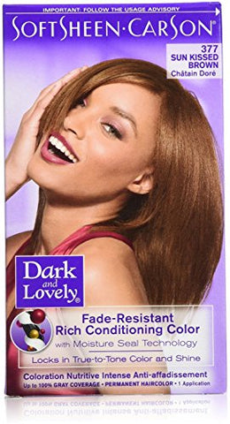 Dark and Lovely Fade Resistant Rich Conditioning Color, No. 377, Sun Kissed Brown, 1 ea