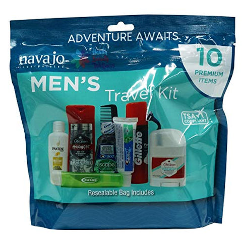 Handy Solutions 10 Piece Resealable Men's Travel Kit