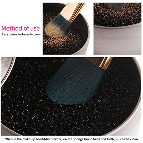 Color Removal Sponge, Makeup Brush Cleaner Makeup Brush Cleaning Tool Cosmetic Powder Clean Tools for Eye Shadow Brush Powder Brush