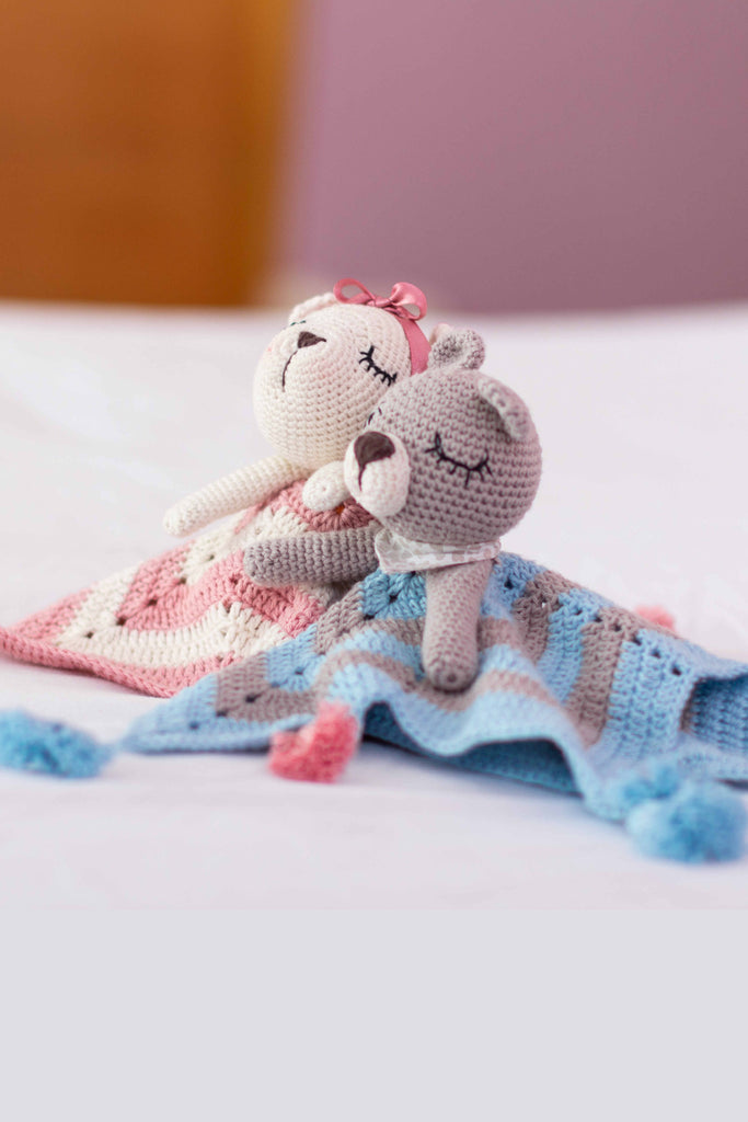 Crochet Security Blanket-toddler toys-small baby toys-Wanuna