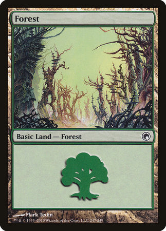 Forest (247) [Scars of Mirrodin] | Boss Minis