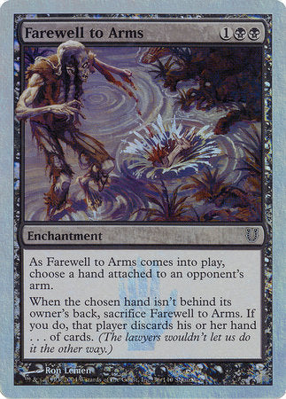 Farewell to Arms (Alternate Foil) [Unhinged] | Boss Minis