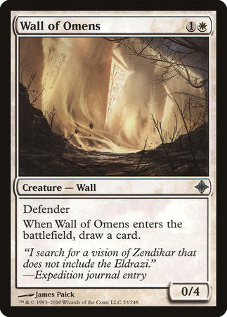Wall of Omens [Rise of the Eldrazi] | Boss Minis