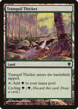 Tranquil Thicket [Commander 2013] | Boss Minis