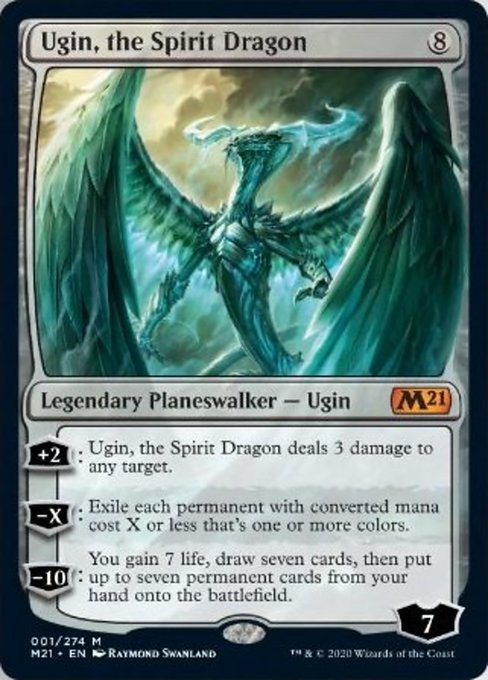 Ugin, the Spirit Dragon [Core Set 2021] | Boss Minis