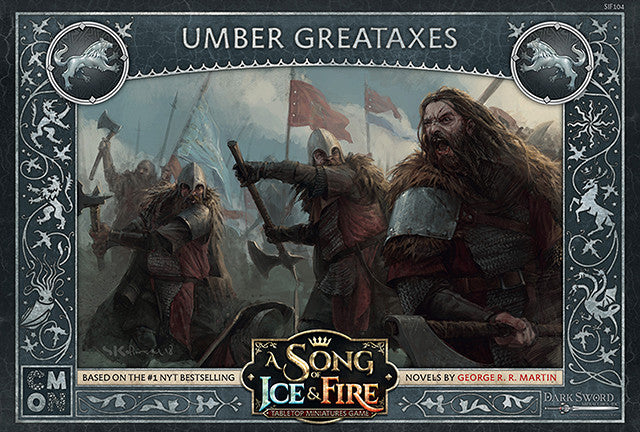 A SONG OF ICE & FIRE TABLETOP MINIATURES GAME: UMBER GREATAXES | Boss Minis