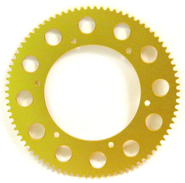 #219 Aluminum Sprocket Gold