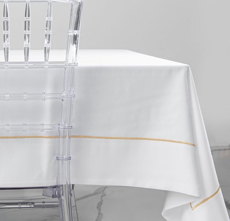 Metallic Loft Border Tablecloth