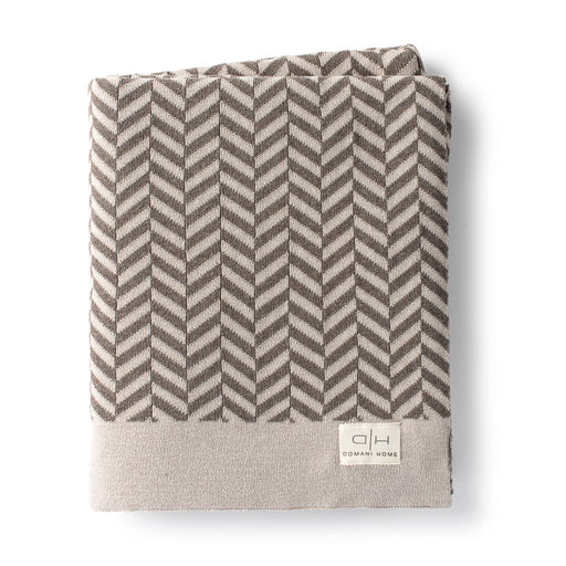 DH Herringbone Throw Taupe