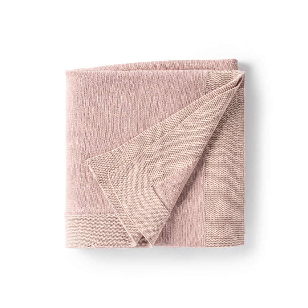 DH Transfer Flat Knit Pink Blanket with Pouch