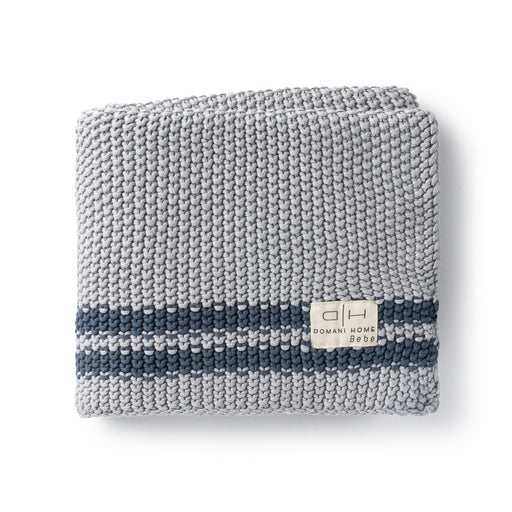 DH Marici Blue Striped Baby Blanket