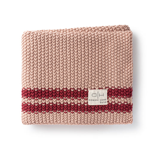 DH Marici Pink Striped Baby Blanket