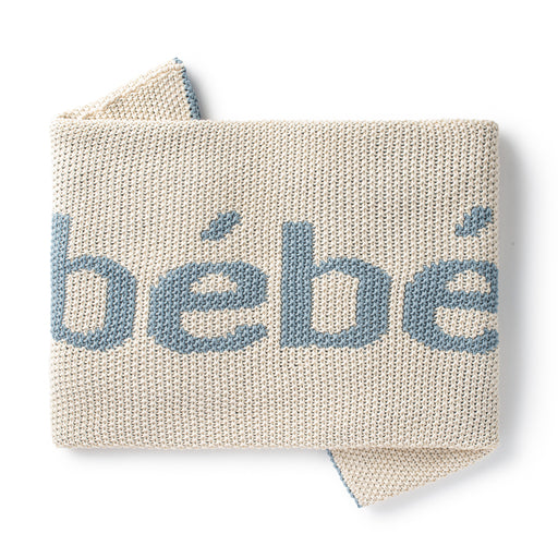 DH Bebe Natural/Blue Baby Blanket