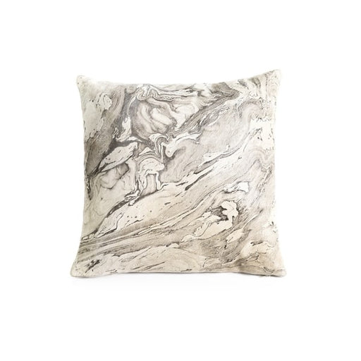 Leather Melange Throw Pillow