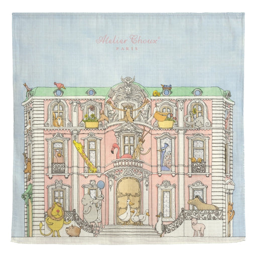 Atelier Choux Paris Baby Monceau Mansion Swaddle Blanket