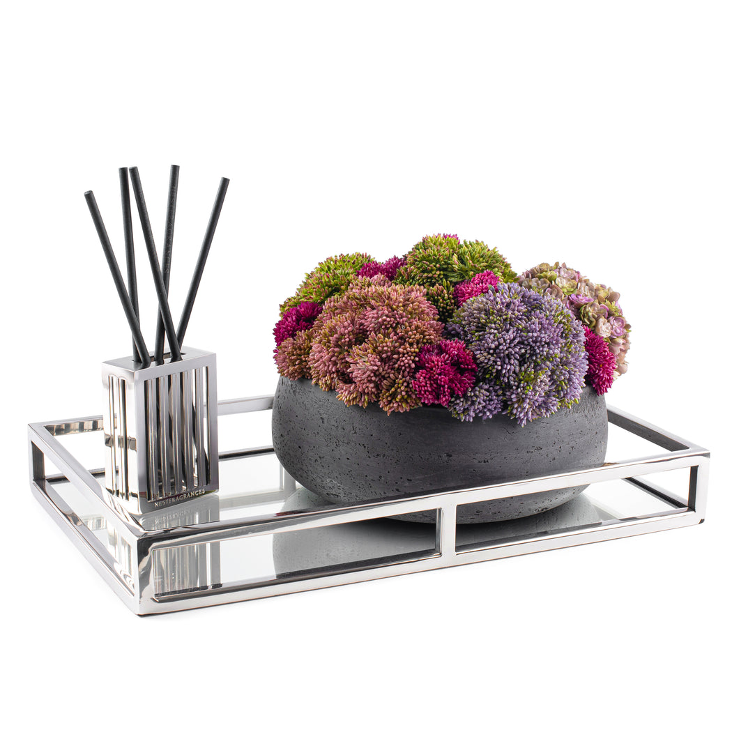 Eileen Floral On Mirror Tray